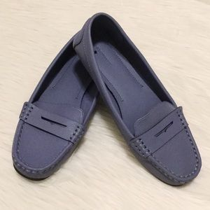 Old Navy Gray/Blue Penny Loafers